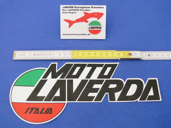 Sticker Moto LAVERDA, 24 x 11cm 4-colours