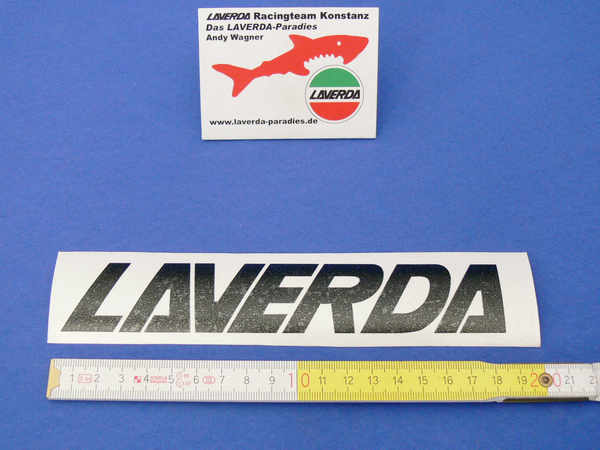 Sticker LAVERDA black 18.5 x 3cm (separate letters can be lacquered)