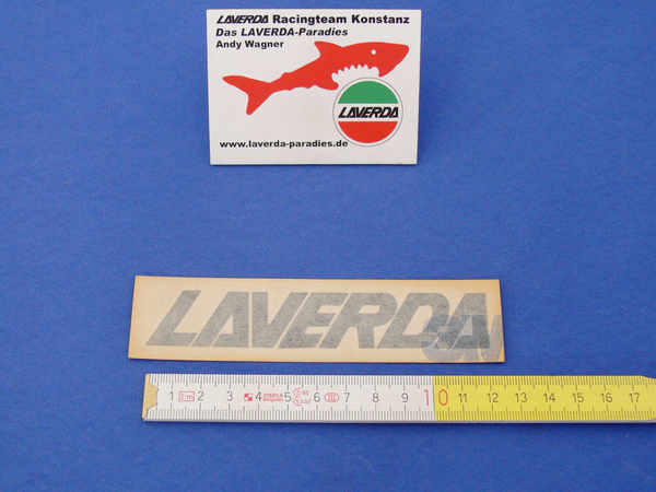 Sticker LAVERDA, black 12.0 x 2cm (separate letters can be lacquered)