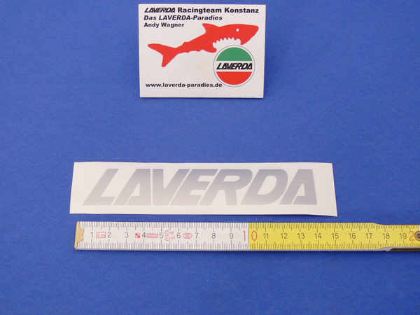 Sticker LAVERDA silver 12.0 x 2cm (separate letters can be lacquered)