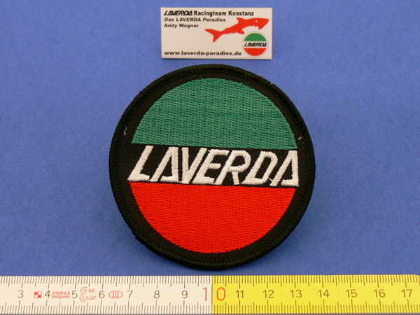 Sew on Patches LAVERDA Ø 75mm