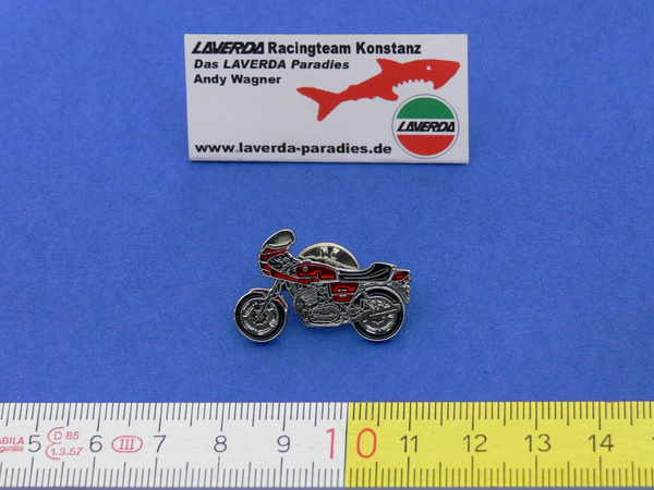 Enamel lapel pins 1000 Jota (Red / Silver)