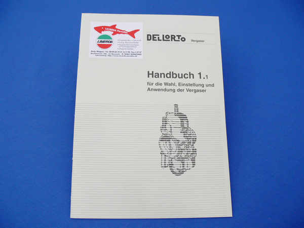 Dellorto-carburetor hand book (only available in German)