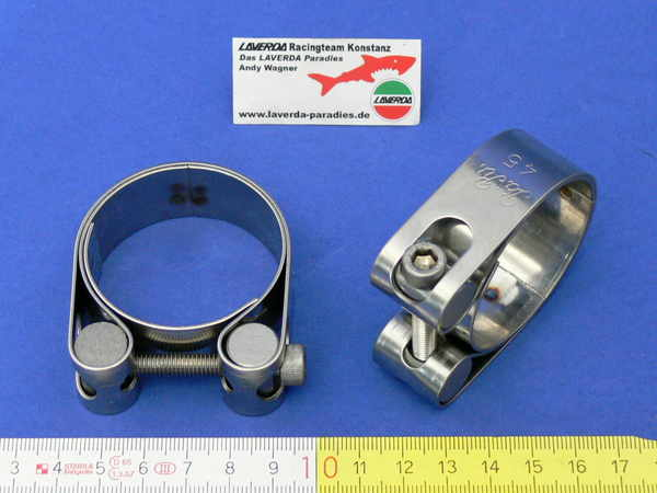 Clamp stainless Ø 45mm for exhaust Ø 40mm