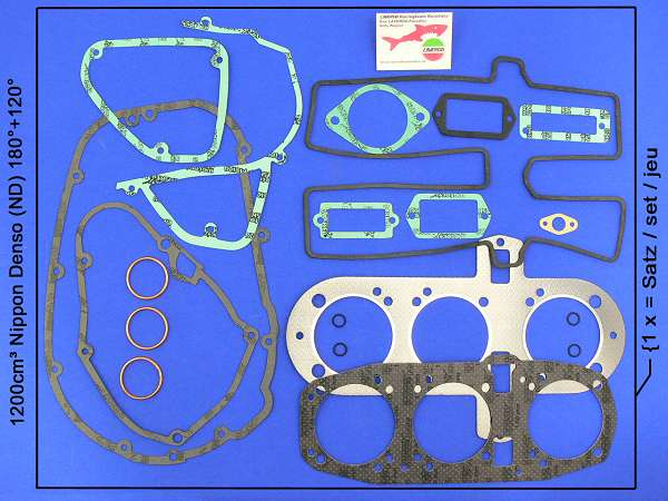 Engine gasket kit 1200, N.D.-generator special (20 pieces)
