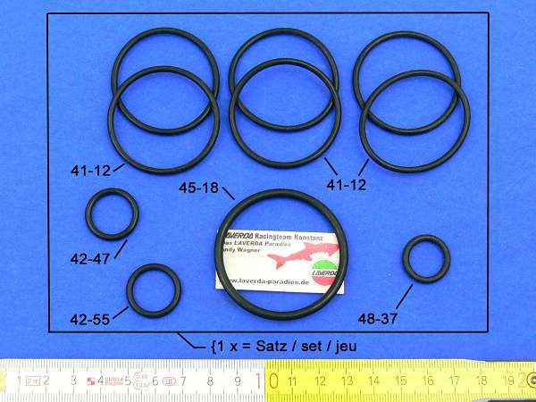 O-ring kit with Ø 32 carburettor Bosch or N.D. Generator 180° (1 x order = 10 pieces)