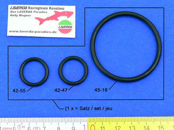 O-ring kit 120° (1 x set = 3 pieces)