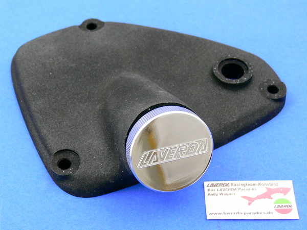 Cover gearchange 750SFC oil fill neck with cap (Magnesiunm imitation with smooth surface)