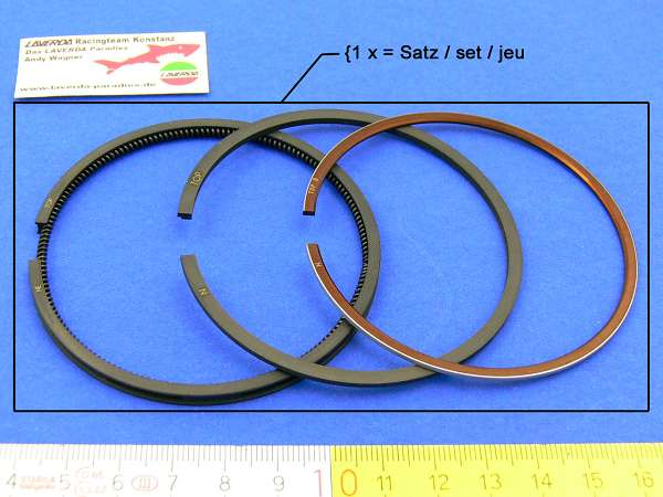 Piston ring set Ø 75.8 ring dimension 1.5/1.5/3.0 Asso (Note: 1 x order = 1 piston ring set for one piston)