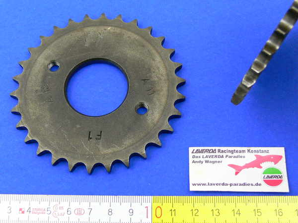 Timing chain gear 120° exhaust