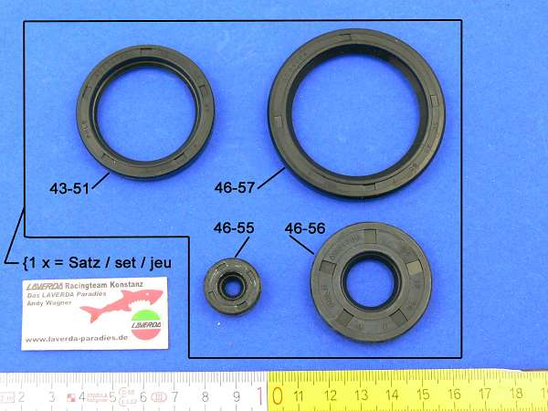 Seal set engine (4 pieces) Bosch Generator 180°