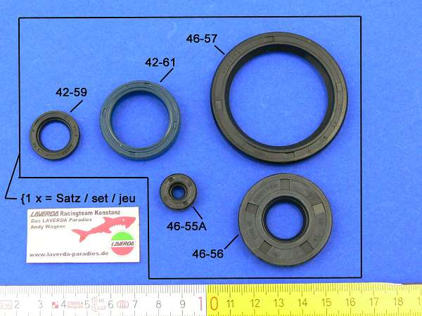 Seal set engine (5 pieces) N.D. Generator 120°
