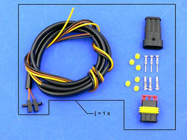 DMC spare part: photocell with cable and plug for 750 or 1000 ccm ignition